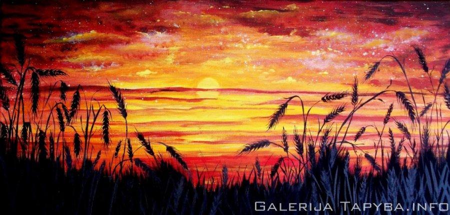 Saulėlydis rugiuose