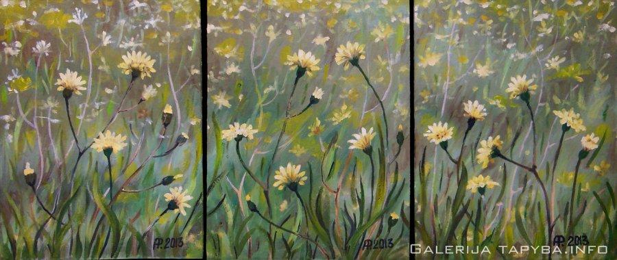 Vasaros gėlės – triptikas