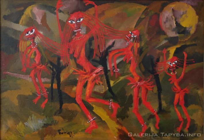 Raudonos šokėjos