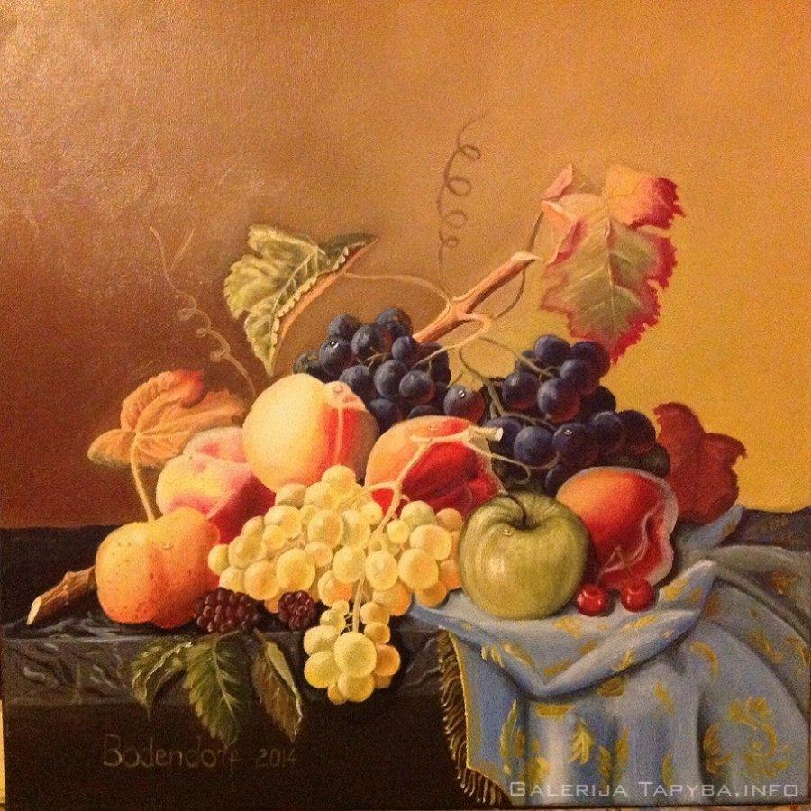 Natiurmortas su vaisiais