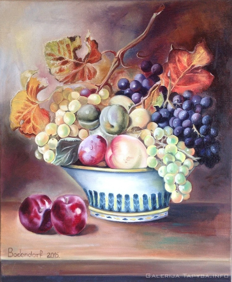 Natiurmortas su vaisiais II