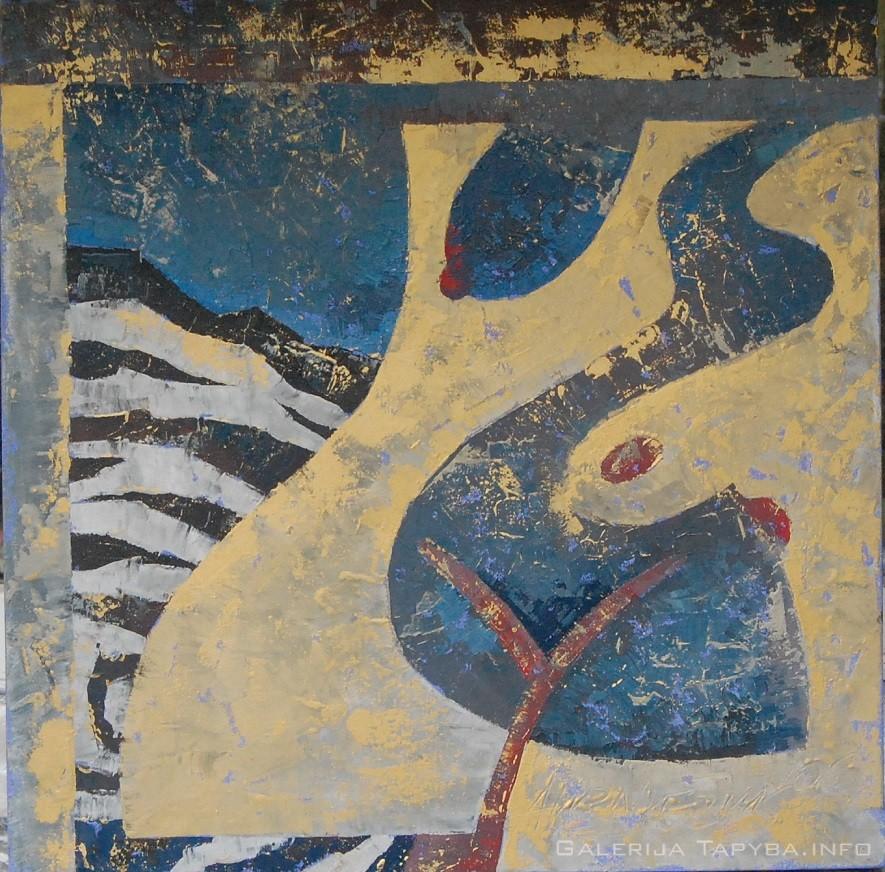 Moteris ant zebro kailio