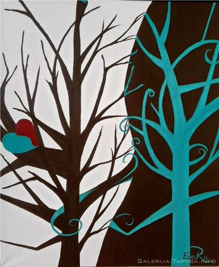 Medžiai Yin Yang