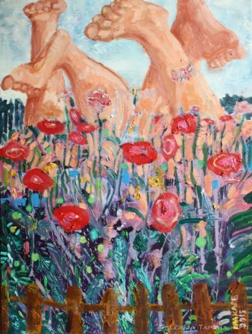 Tarp gėlių
