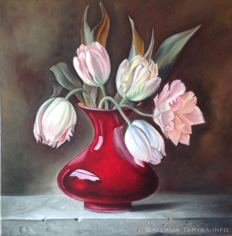 Tulpės vazoje