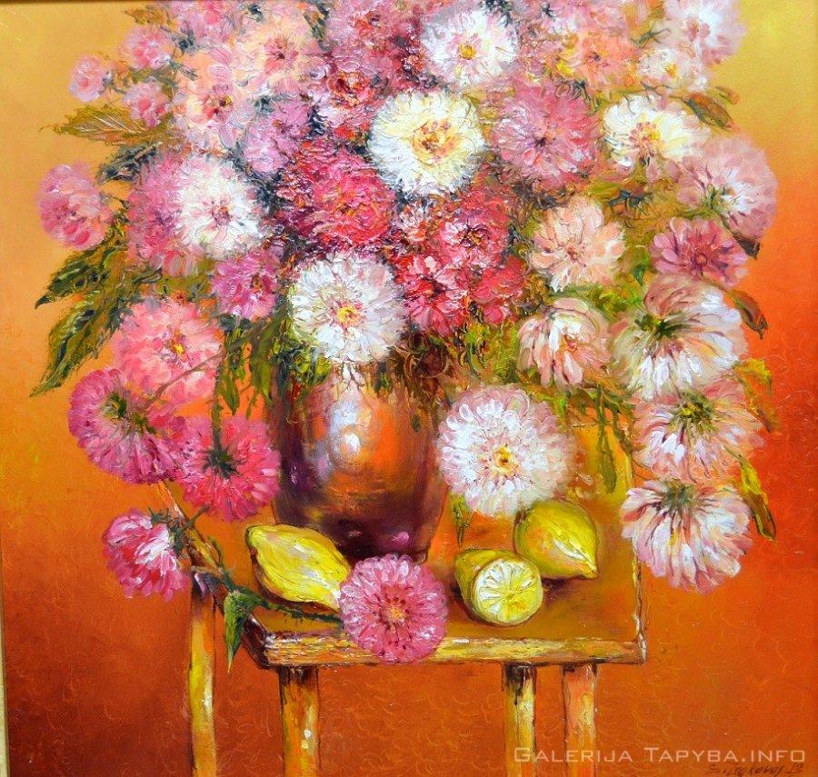 Natiurmortas su gėlėmis