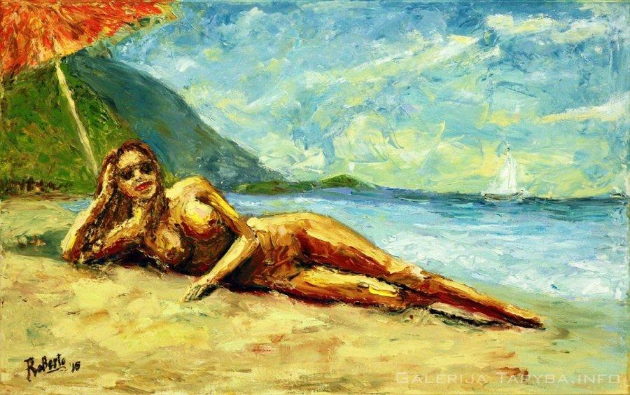 Paplūdimyje
