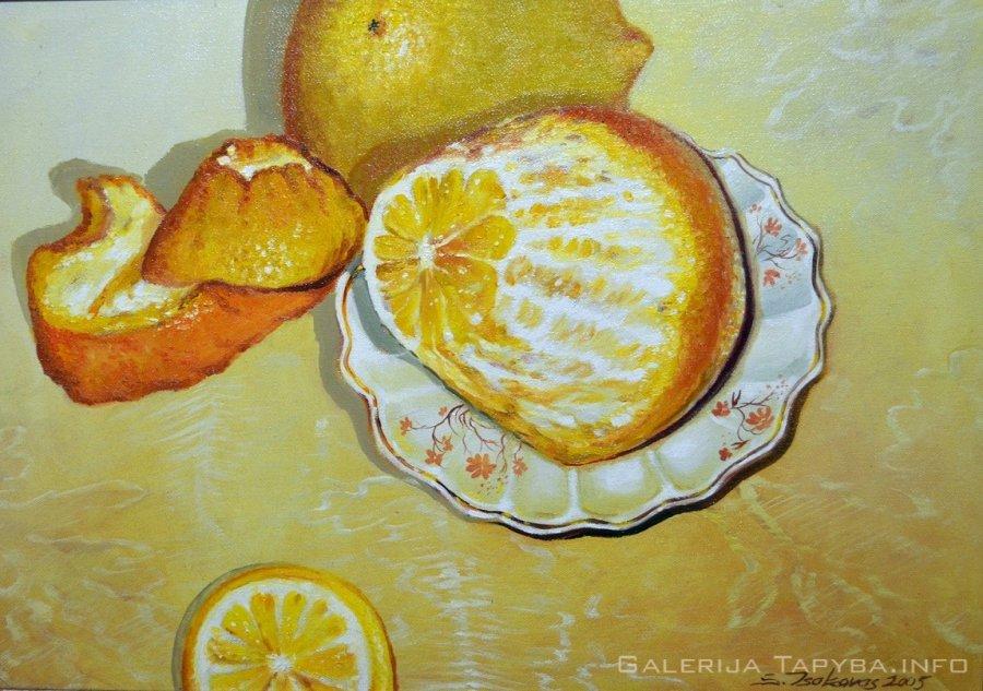 Natiurmortas su citrina