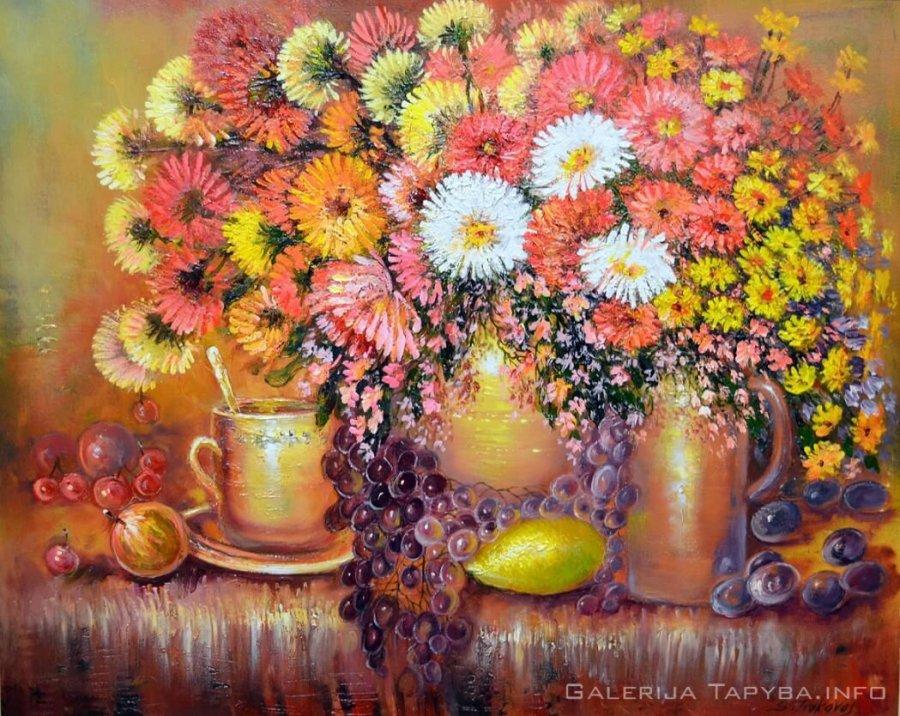 Natiurmortas su gėlėmis II