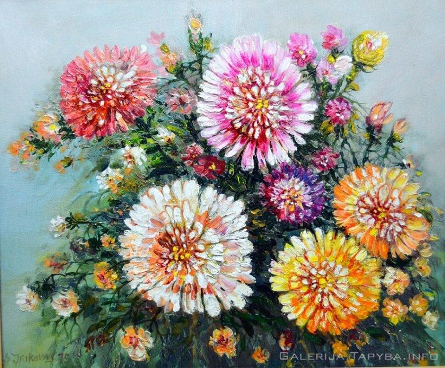 Natiurmortas su gėlėmis III