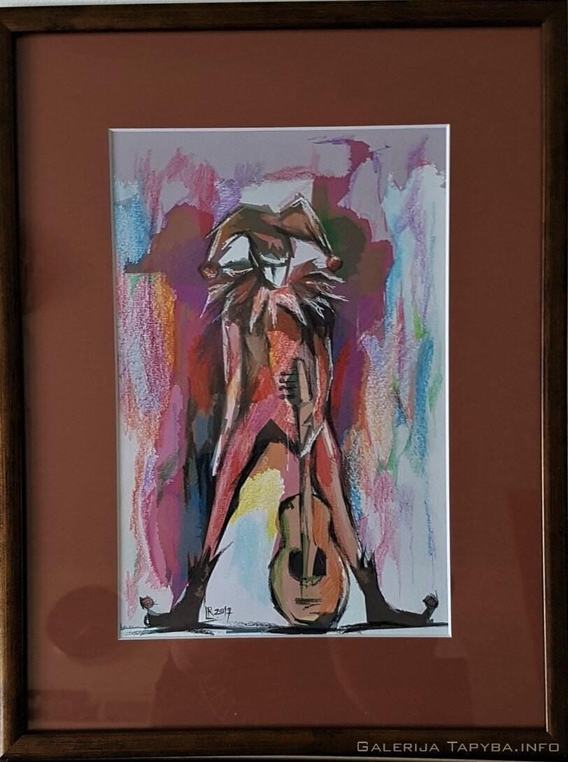 Arlekinas su gitara
