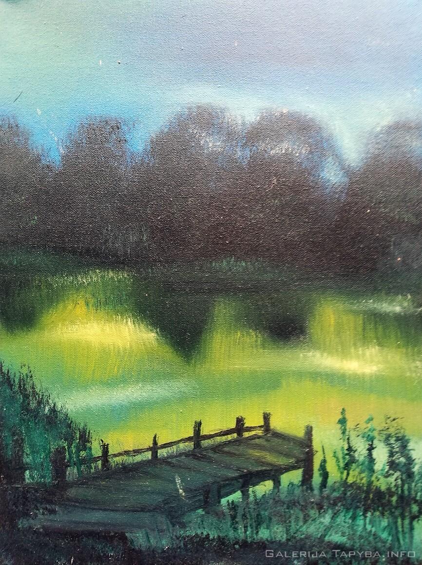 Peizažas prie ežero