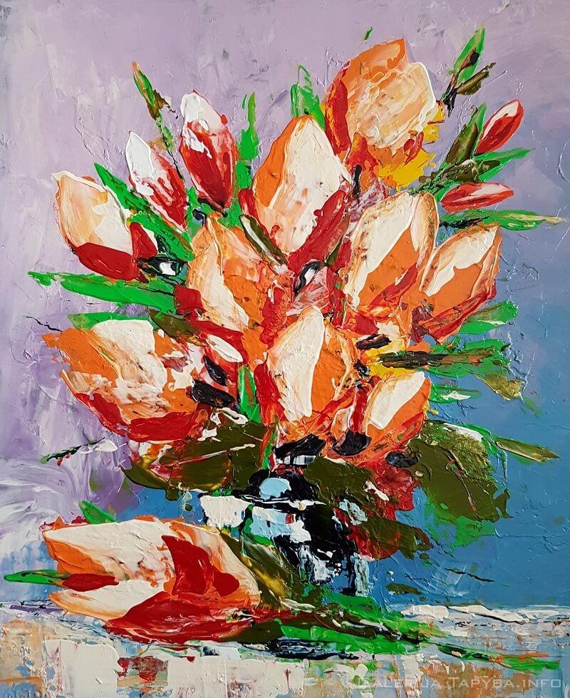 Tulpių natiurmortas