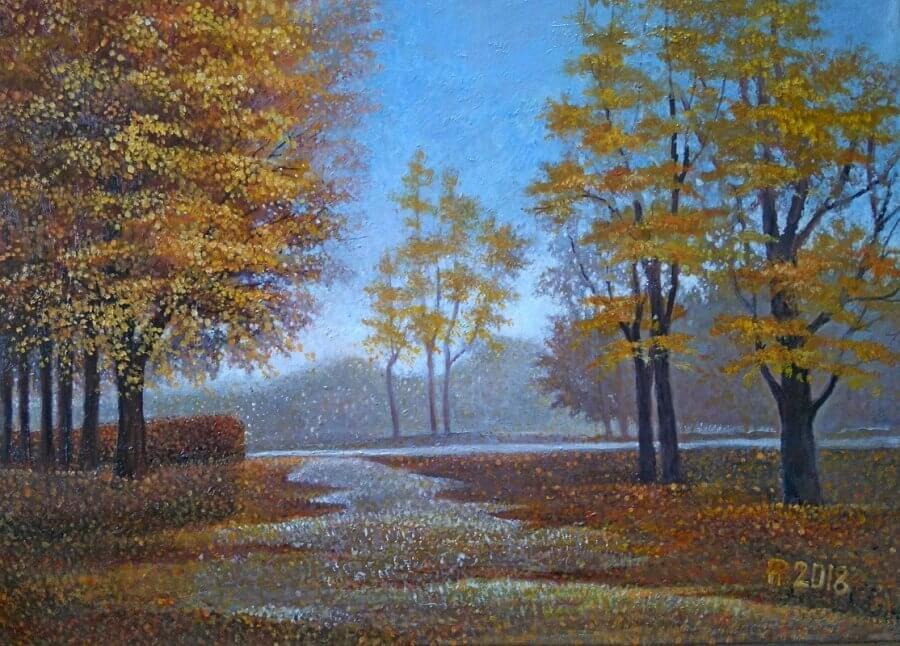 Geltoni medžiai