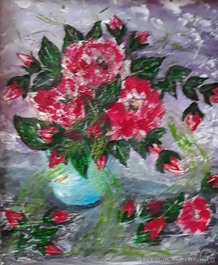 Raudonos gėlės