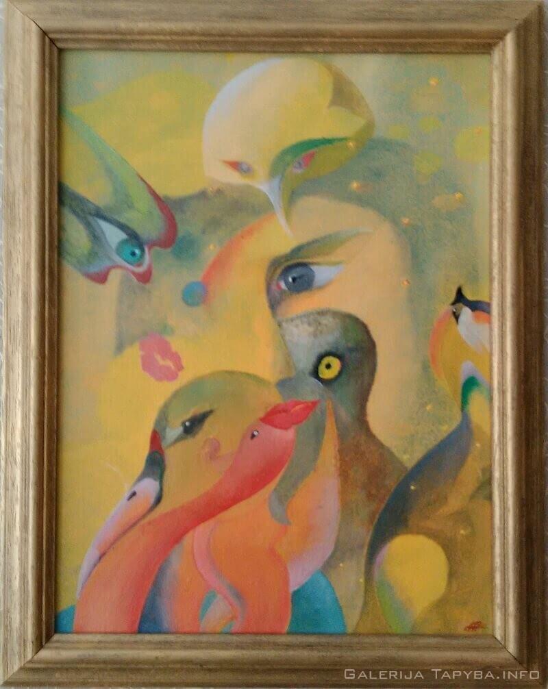 Moteris ir 7 jos paukščiai