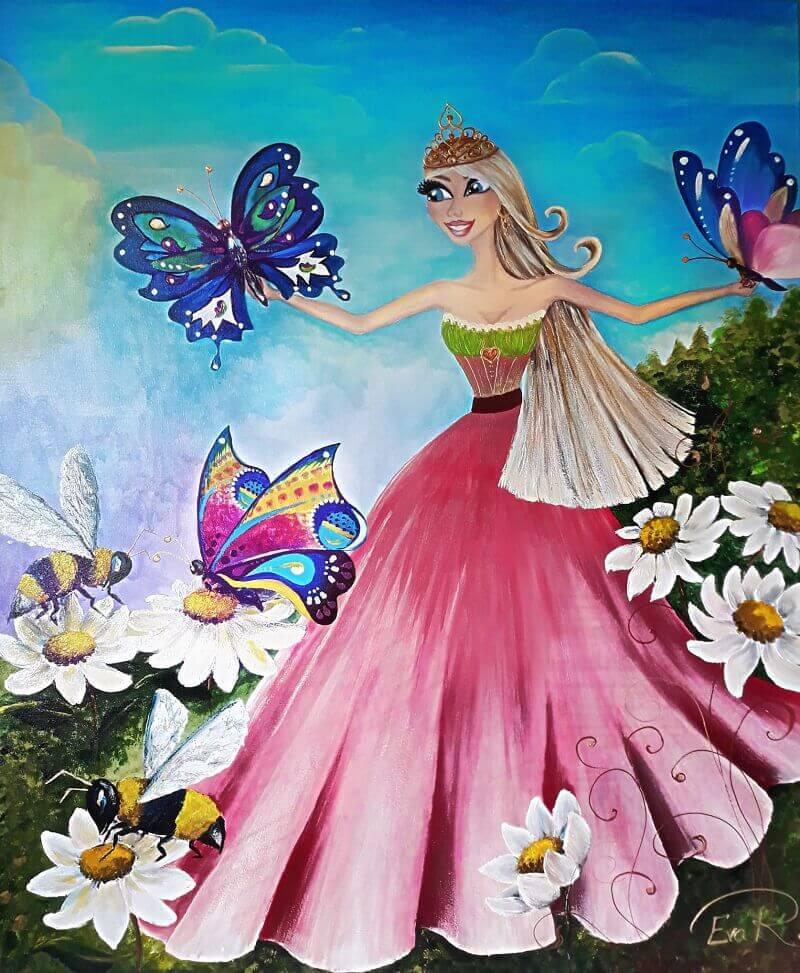 Princesė su drugeliais