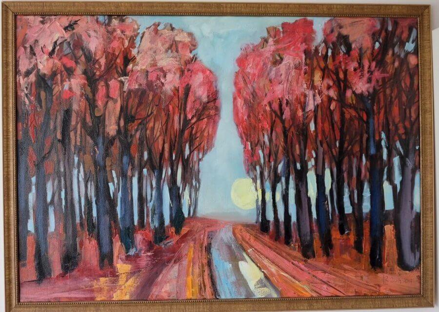 Raudoni medžiai
