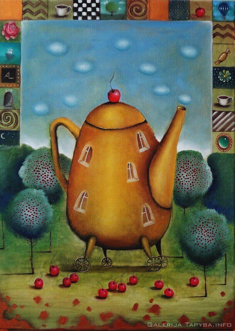 Pokalbis prie vyšnių arbatos