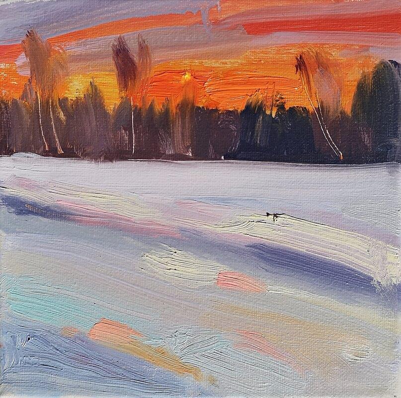 Išeinančios žiemos saulėlydis