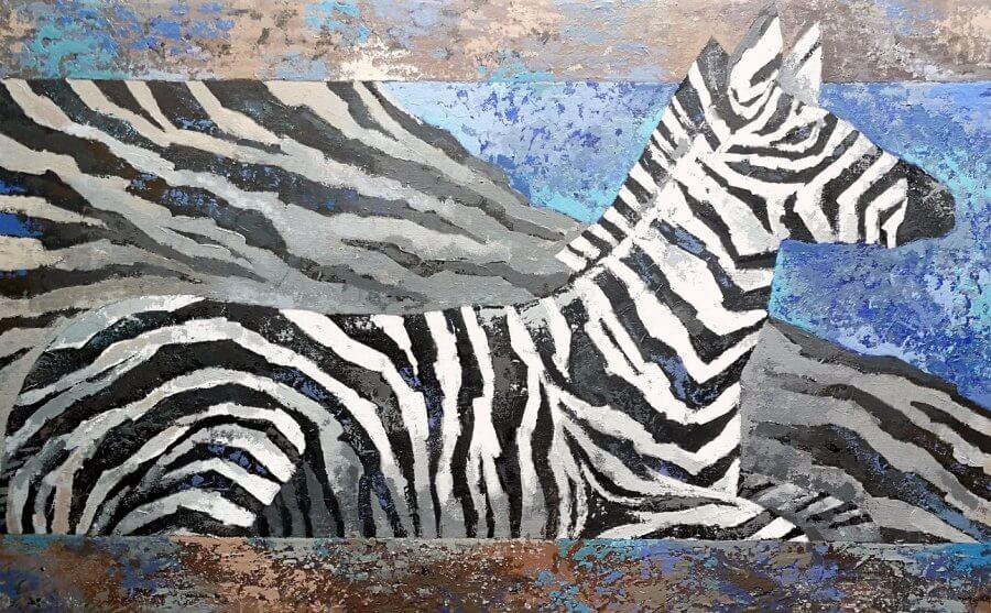 Zebro poilsis