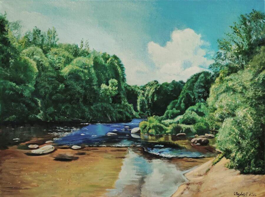 Minija. Upės slenksčiai