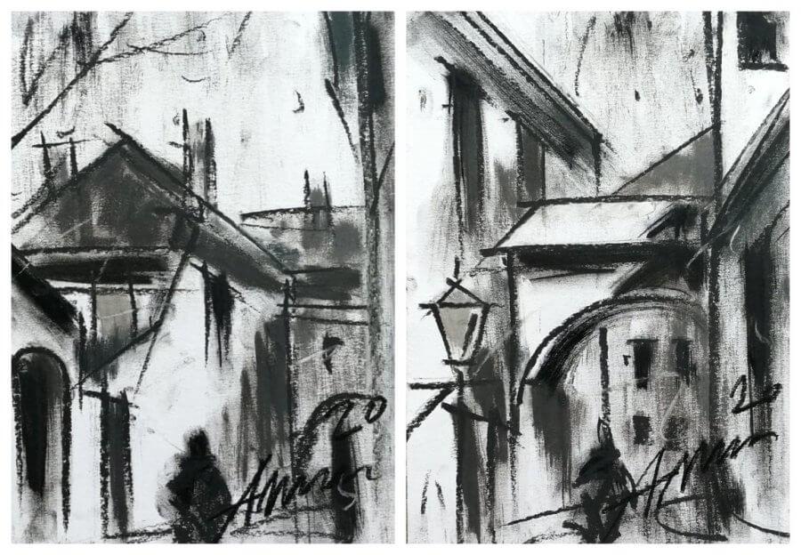 Miesto nuotaikos – diptikas