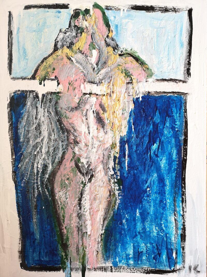 Moteris už lango