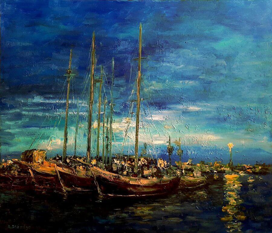 Naktinis Husaviko uostas
