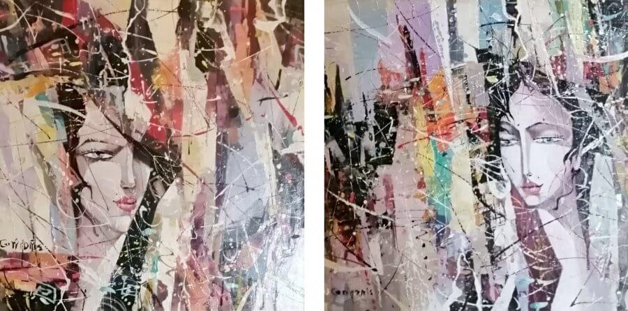 Abstrakcijos – diptikas