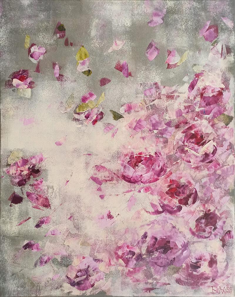 Švelnus rytas (rožiniai bijūnai)