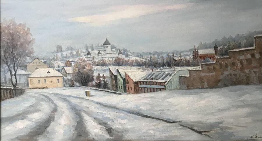 Vilniaus panorama žiemą