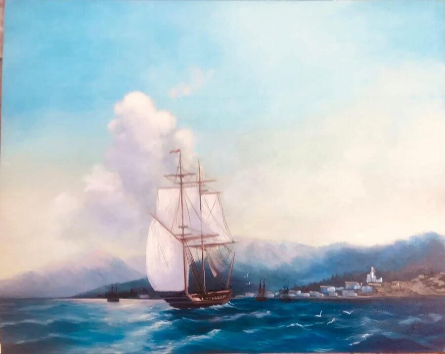 Jūra (įkvėpta I. Aivazovskio)